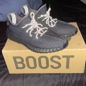 Size 12 Black Non-reflective Yeezys